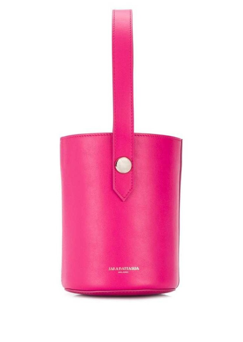 Sara Battaglia logo bucket bag