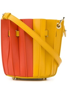 Sara Battaglia Plisse bucket bag