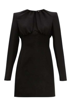 Sara Battaglia Gathered-bodice crepe mini dress
