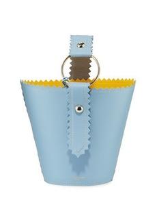Sara Battaglia Helen Jar Leather Bucket Bag