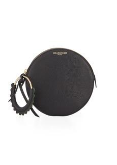 Sara Battaglia Helen Round Leather Wristlet Bag