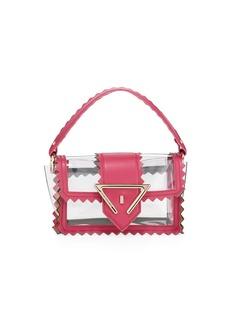 Sara Battaglia Helen Zigzag Mixed-Media Shoulder Bag