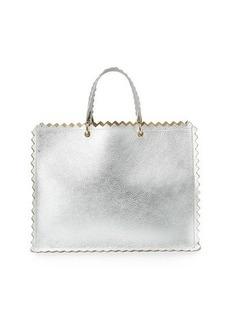 Sara Battaglia Helena Leather Tote Bag