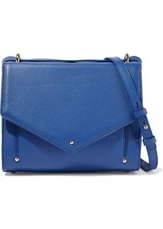 Sara Battaglia Woman Pebbled-leather Shoulder Bag Blue