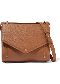Sara Battaglia Woman Pebbled-leather Shoulder Bag Light Brown