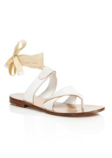 SARAH FLINT Grear Ankle Wrap Thong Sandals