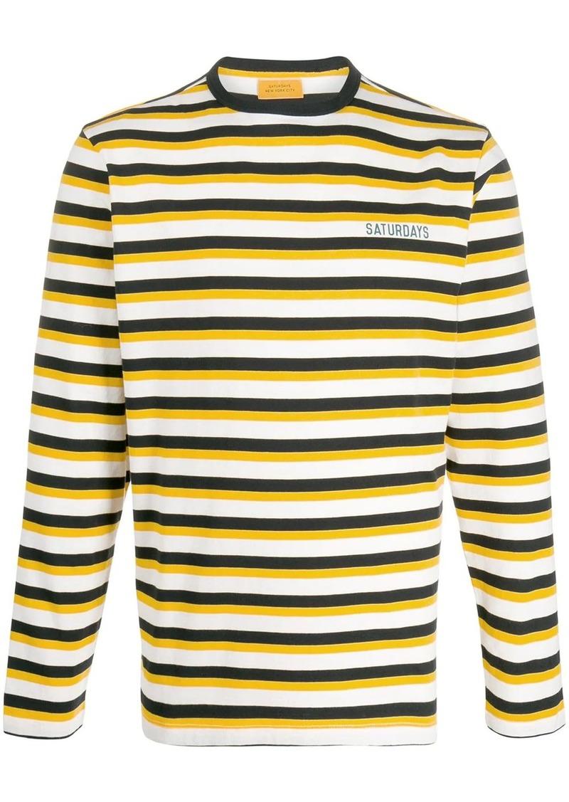 Saturdays NYC Alek striped long-sleeved T-shirt