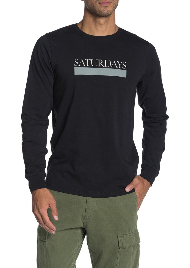 Saturdays NYC Bar Logo Long Sleeve T-Shirt