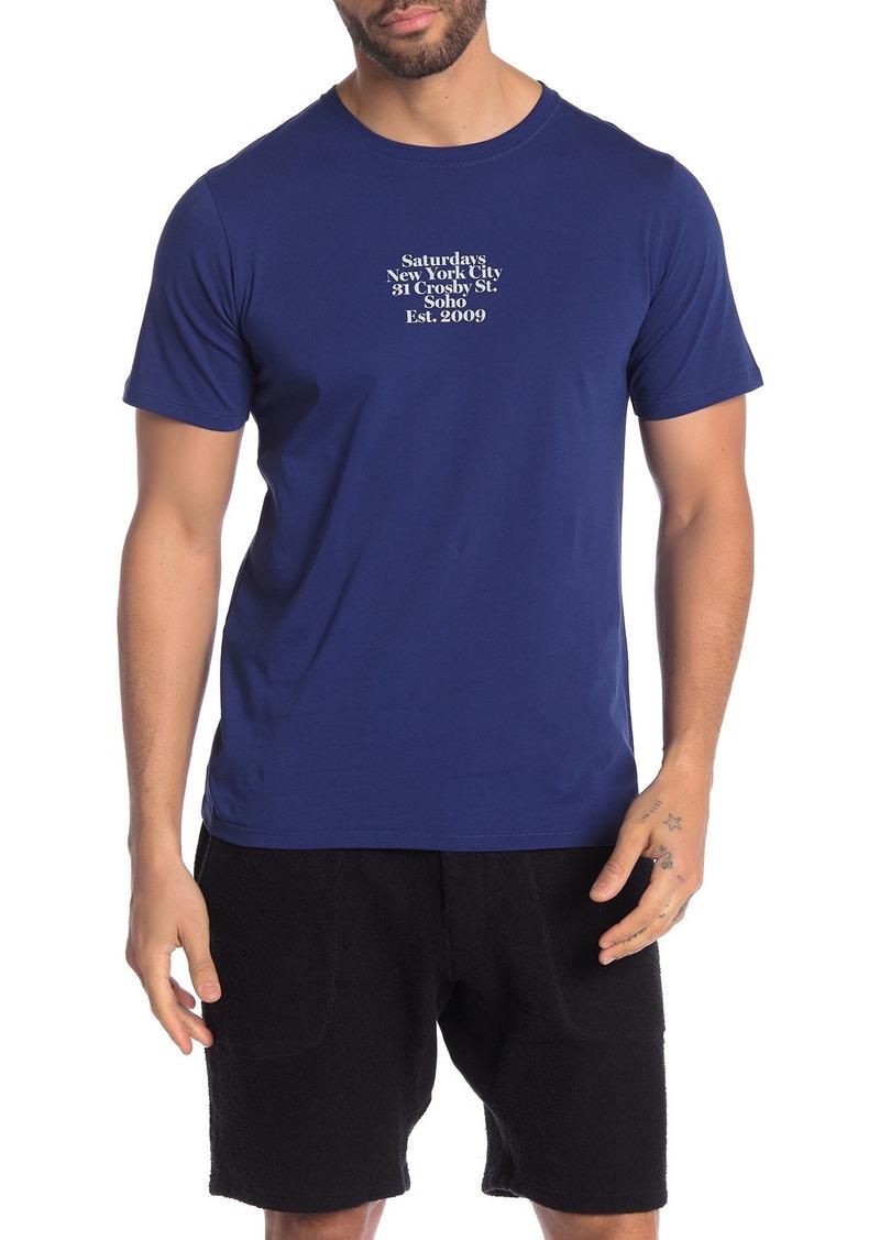 Saturdays NYC Gotham Address Graphic T-Shirt