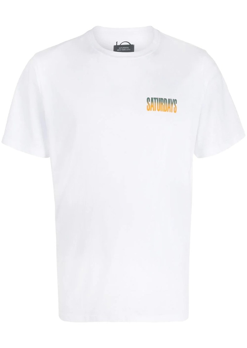 Saturdays NYC gradient logo T-shirt