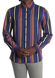 Saturdays NYC Perry Stripe Long Sleeve Shirt
