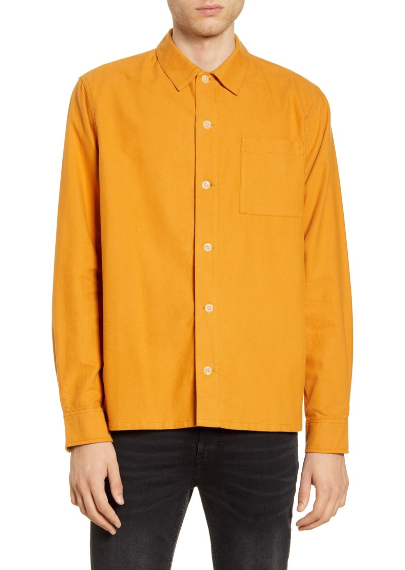 Saturdays NYC Alessandro Solid Button-Up Flannel Shirt