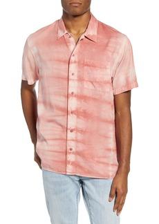 Saturdays NYC Alpons Mineral Wash Short Sleeve Button-Up Shirt