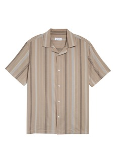 Saturdays NYC Canty Bay Stripe Short Sleeve Button-Up Camp Shirt