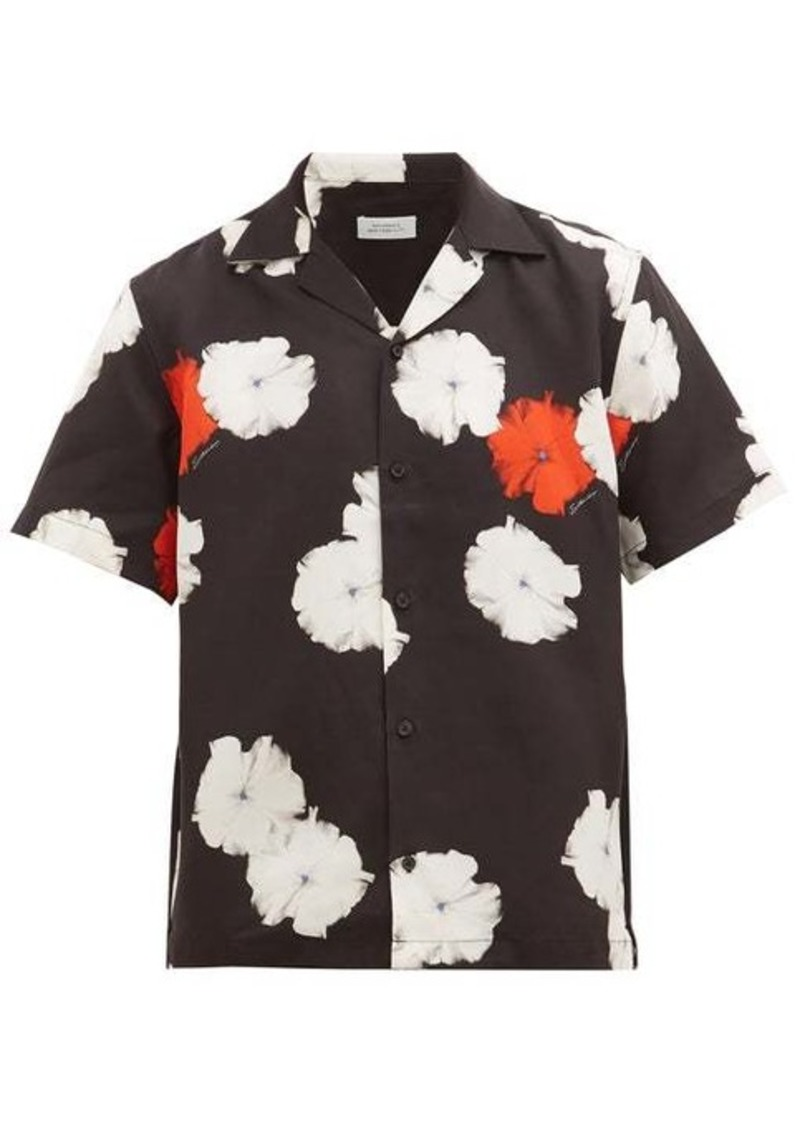 Saturdays NYC Canty Moon Flower-print twill shirt