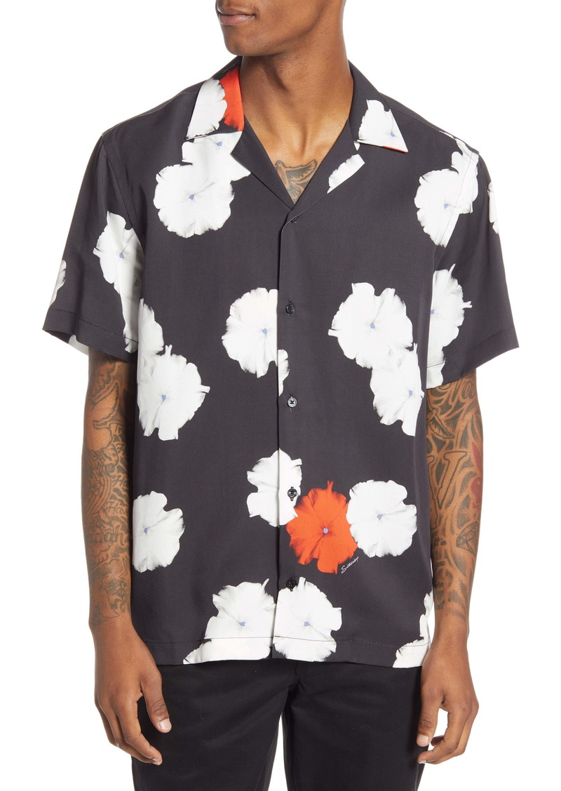 Saturdays NYC Canty Moonflower Short Sleeve Button-Up Camp Shirt