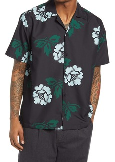 Saturdays NYC Canty Rose Floral Button-Up Camp Shirt