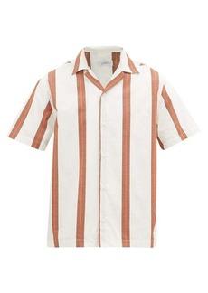 Saturdays NYC Canty striped Cuban-collar cotton shirt