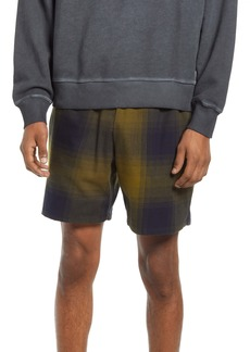 Saturdays NYC Joby Plaid Cotton Shorts