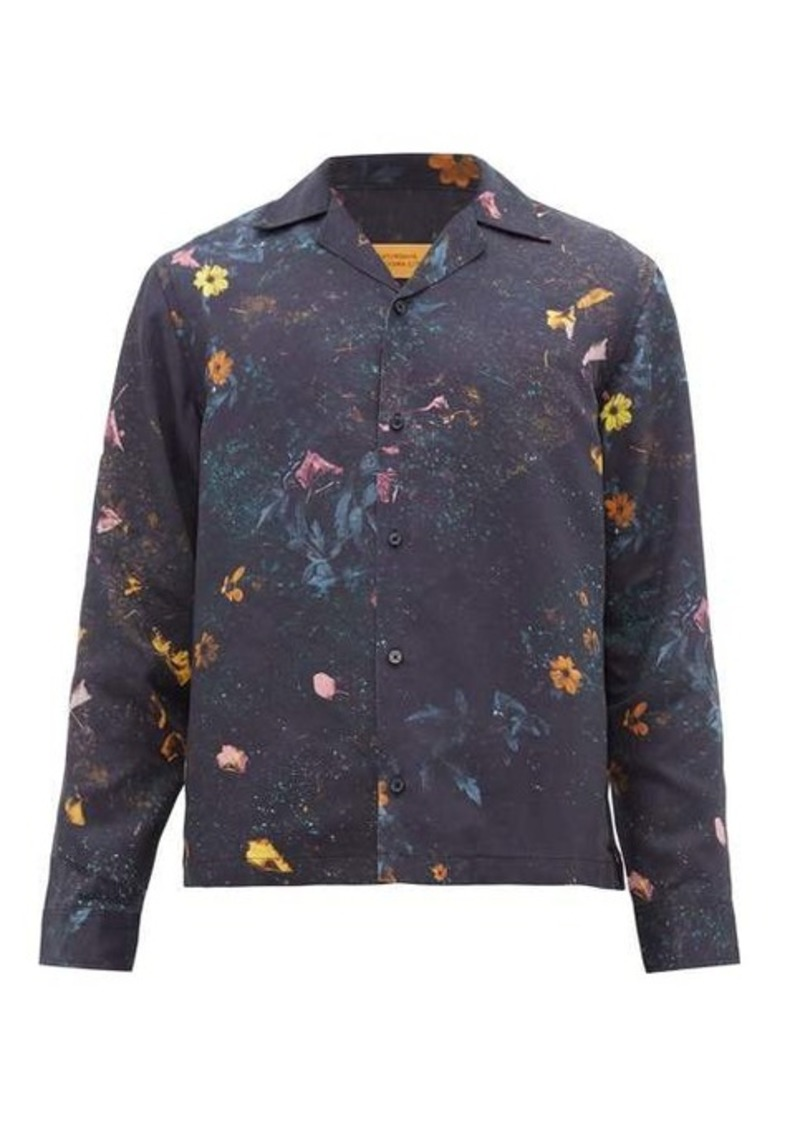 Saturdays NYC Marco digital floral-print lyocell shirt