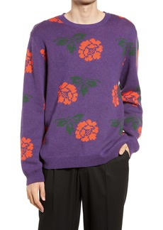 Saturdays NYC Men's Wade Rose Floral Crewneck Sweater