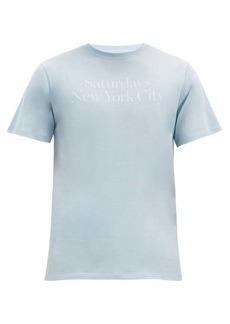 Saturdays NYC Miller logo-print cotton T-shirt