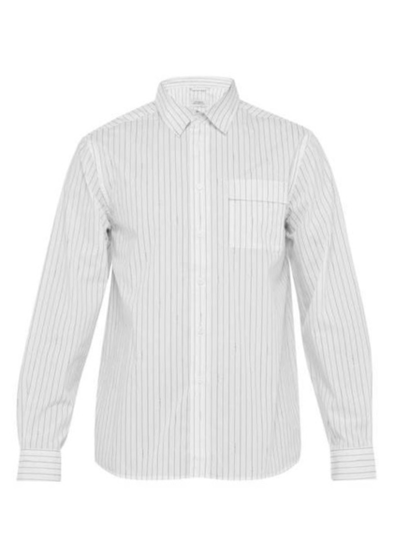 Saturdays NYC Miro logo-striped cotton-poplin shirt