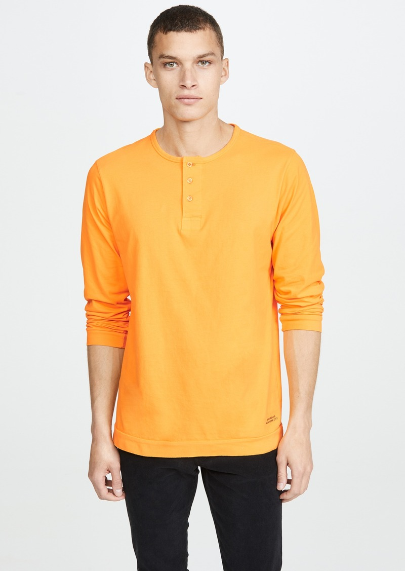 Saturdays NYC Mitch Pima Long Sleeve Henley