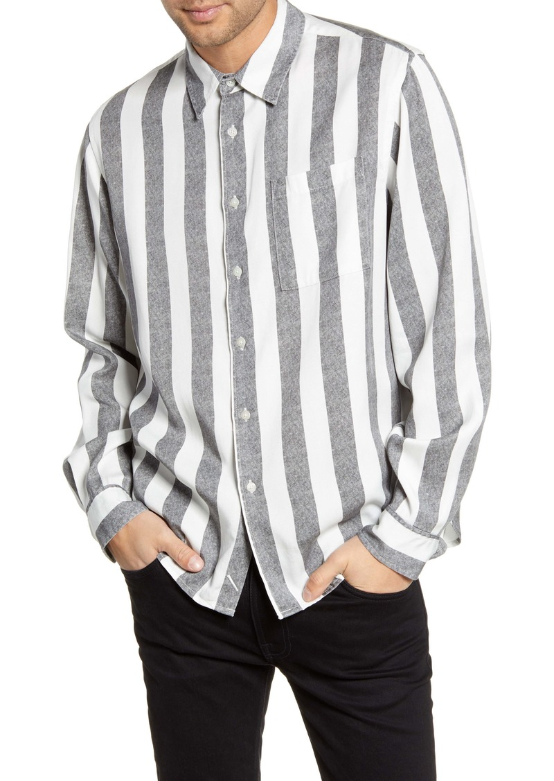 Saturdays NYC Perry Stripe Button-Up Twill Shirt