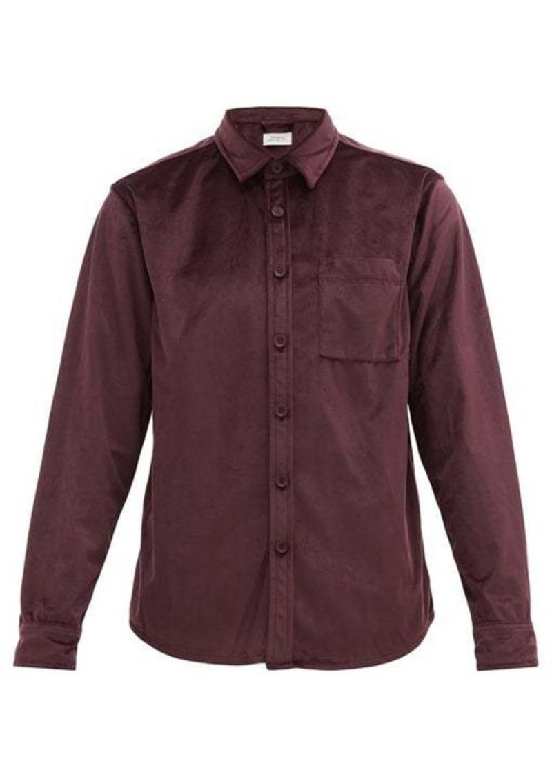 Saturdays NYC Perry velvet shirt