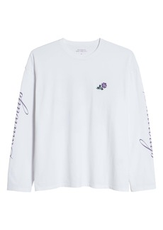 Saturdays NYC Rose New Embroidered Long Sleeve Men's Graphic Tee