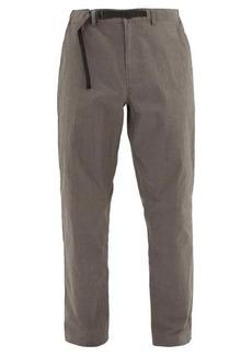 Saturdays NYC Shaw drawstring-waist cotton-blend trousers