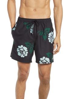 Saturdays NYC Timothy Pixelated Rose Swim Shorts