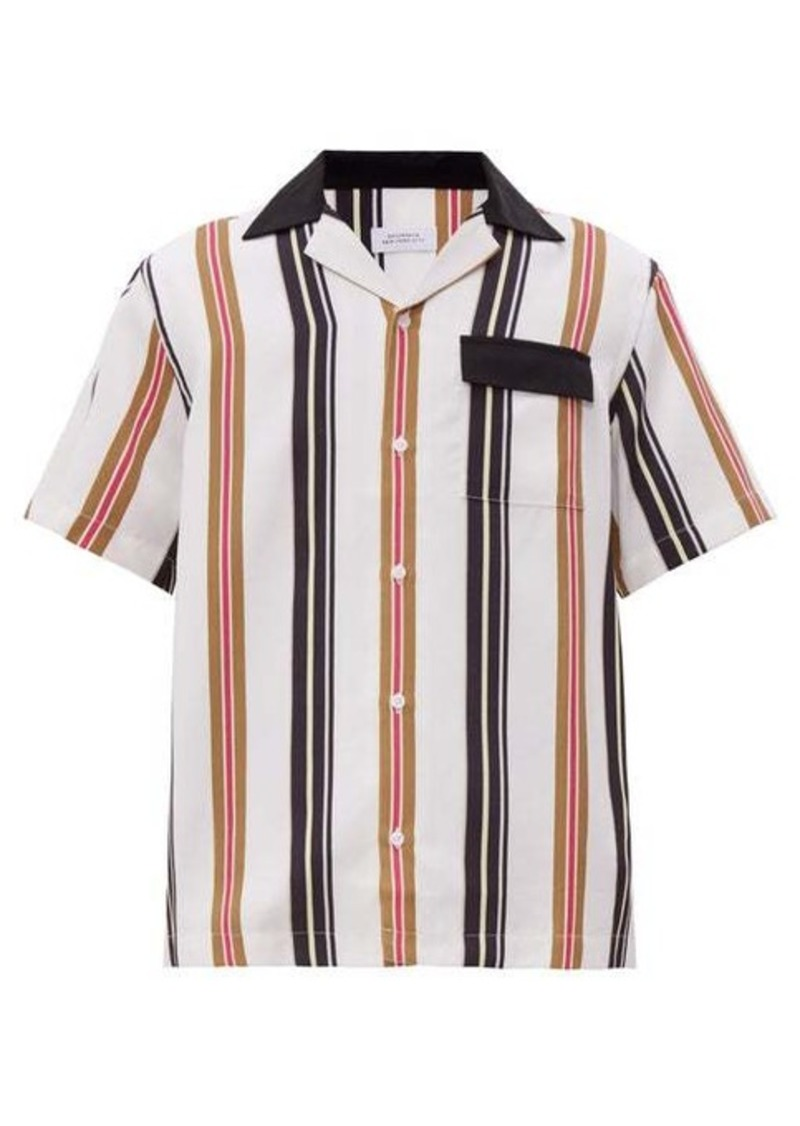 Saturdays NYC Xavier striped cuban-collar shirt