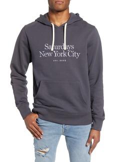Saturdays NYC Saturdays Standard Embroidered Logo Hooded Sweatshirt