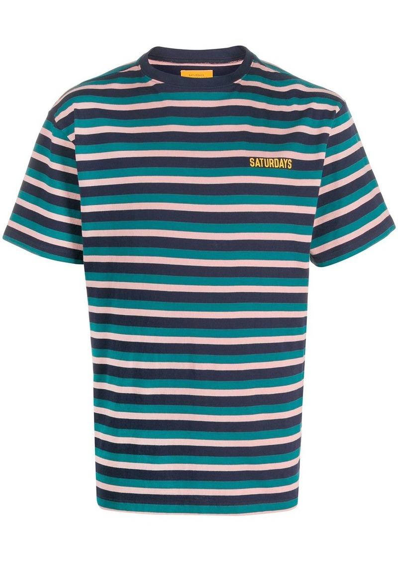 Saturdays NYC short sleeve striped T-shirt