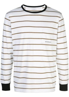Saturdays NYC striped long-sleeved T-shirt