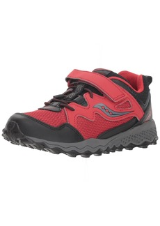 Saucony Boys' Peregrine Shield 2 A/C Sneaker red/Black 2.5 Wide US Little Kid