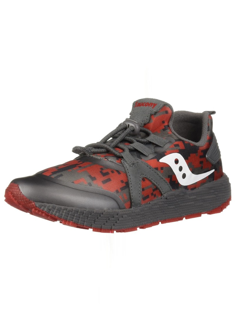 Saucony Boys' Voxel 9000 Sneaker Grey/red