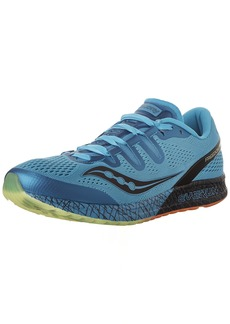 Saucony Men's Freedom ISO Running Shoe Blue/Black/Citron