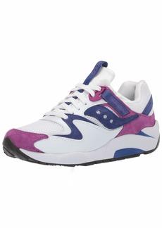 Saucony Men's Grid 9000 Sneaker white/purple  M US