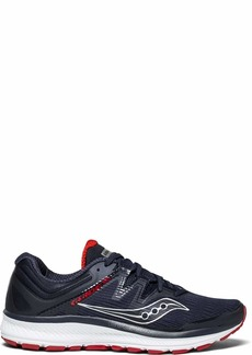 Saucony Men's Guide ISO Running Shoe Navy/red  Medium US