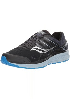 Saucony Men's Omni 16 Running Shoe black/grey/blue  Medium US