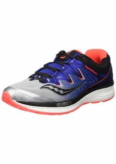 Saucony Men's Triumph ISO 4 Sneaker Silver/Blue/Vizi red 090 M US