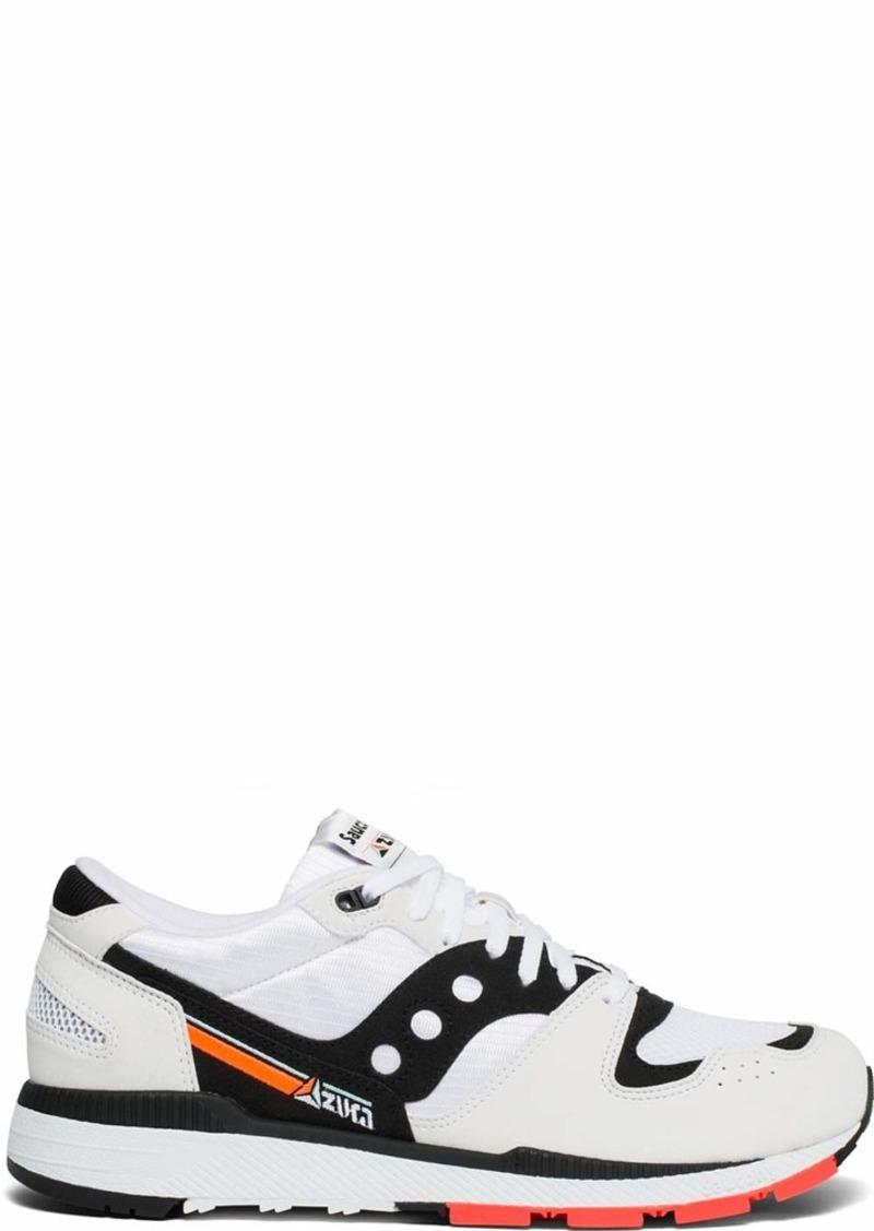 Saucony Originals Men's Azura Sneaker White/Black/red  M US