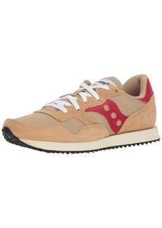Saucony Originals Men's DXN Trainer Vintage Running Shoe tan/red 9.5 Medium US