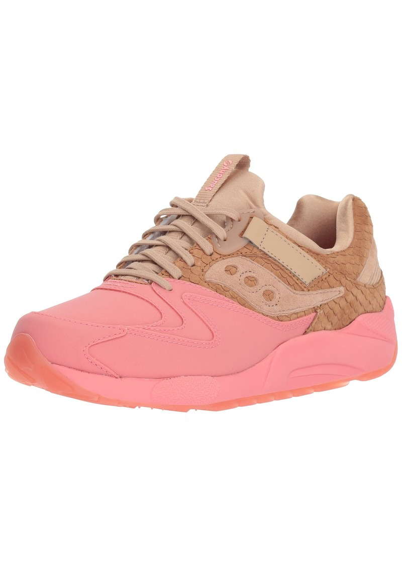 Saucony Originals Men's Grid 9000 HT Running Shoe tan/Pink  Medium US