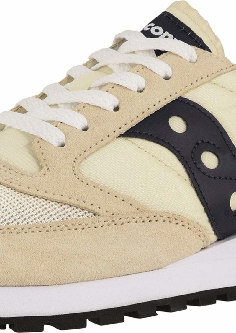 Saucony Originals Men's Jazz Original Vintage Sneaker tan/Navy  M US