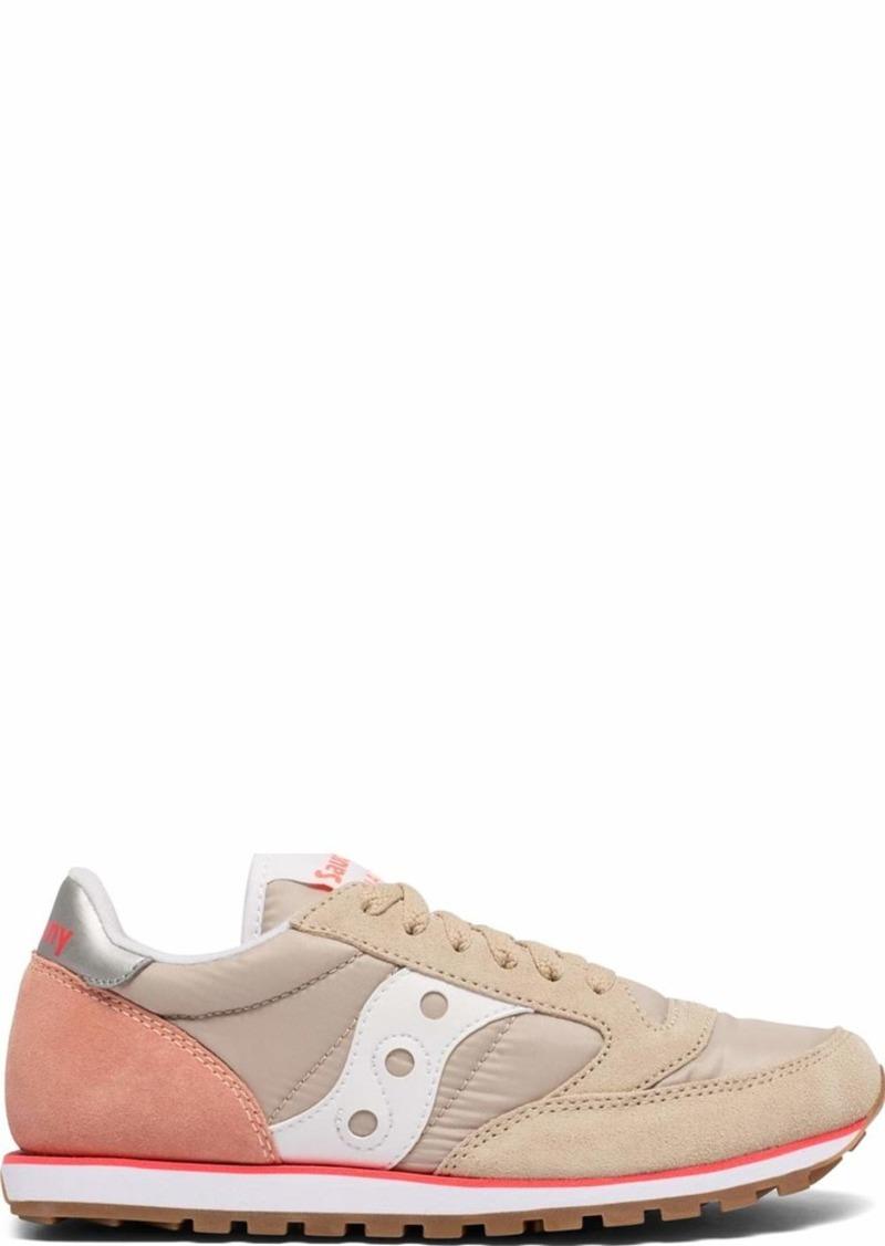 Saucony Originals Women's Jazz Lowpro Sneaker tan/Light Pink/ViziPink  M US