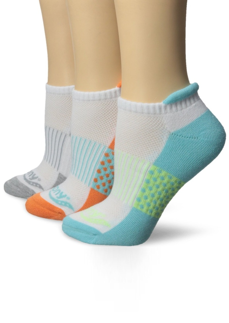 Saucony Women's 3 Pack Polka Dot No Show Athletic Sport Peformance Socks  9-11/Shoe Size 5-7 (Pack of 3)
